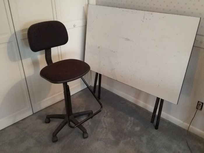 Folding Craft Table with Chair