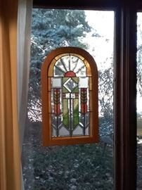 Hanging Stained Glass Window Pieces