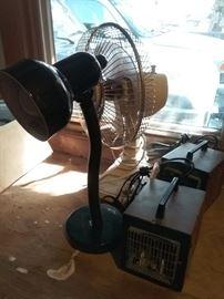 Heaters, Fan, and Light