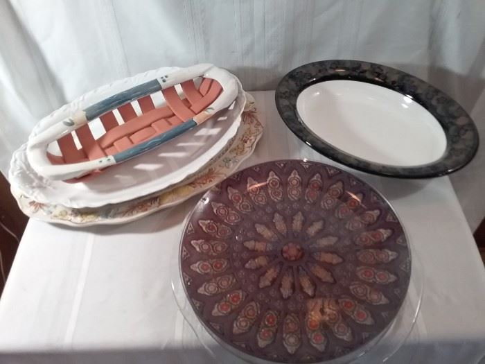 Large Assortment of Platters and Plates