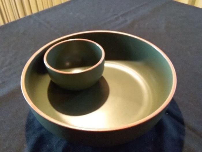 Large Ceramic Chip and Dip Bowl