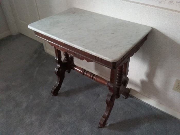 Marble and Wood Table
