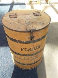 Metal Flour Barrel