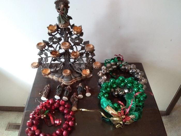 Nativity Tree and Wreaths