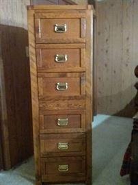 Oak Cabinet of Drawers