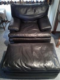 Polyester Chair and Footrest