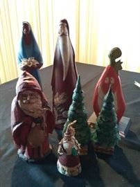 Porcelain Holiday Statues