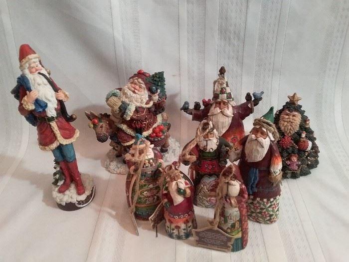 Santa Tree Decorations and Figurines