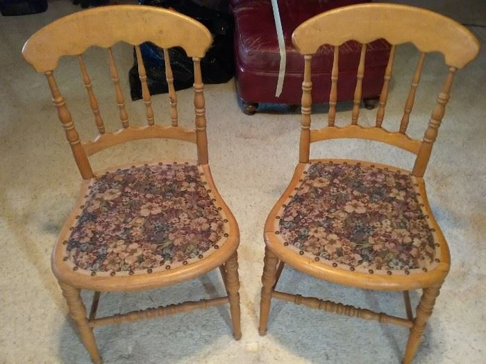 Set of Two Vintage Chairs