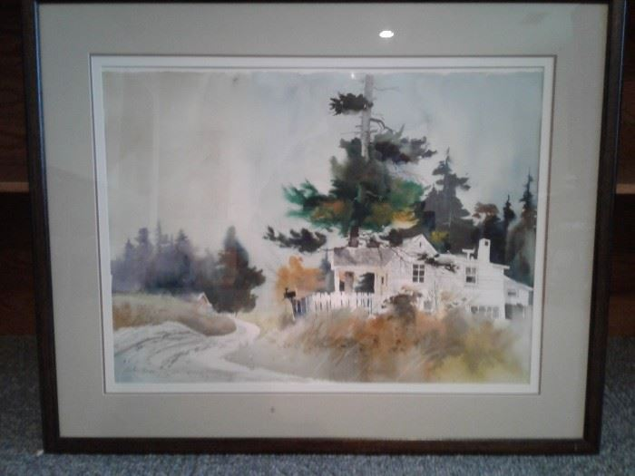 Signed Watercolor Painting Print