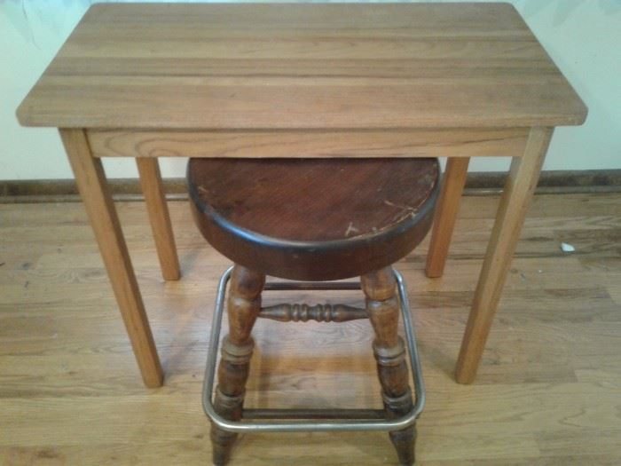 Small Rectangle Table and Swivel Stool
