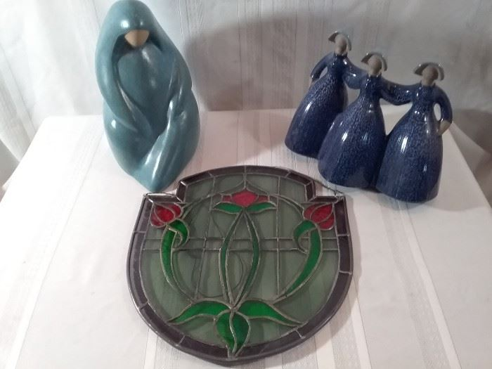Stained Glass and Figurines