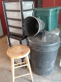 Storage and Trash Cans