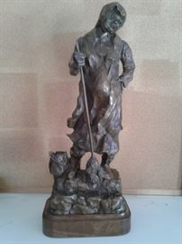 Tall Bronze Sculpture