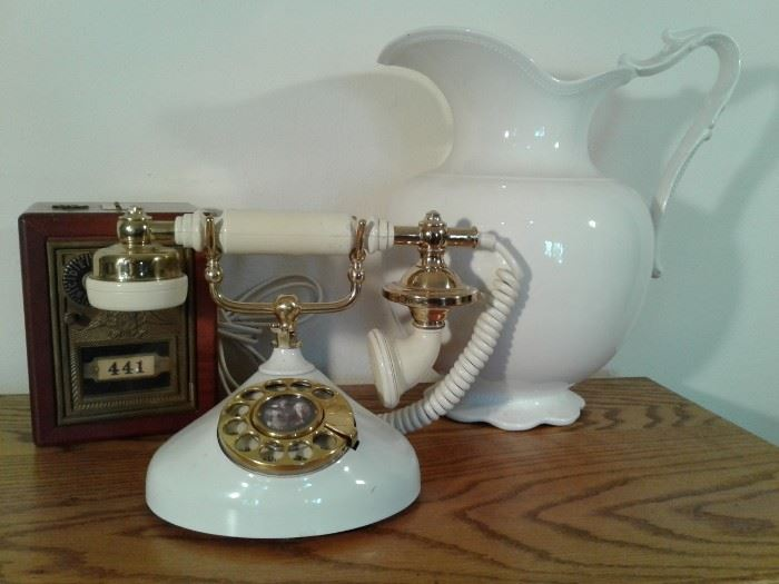 Telephone Pitcher Piggy Bank