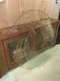 Two Large Glass Table Tops