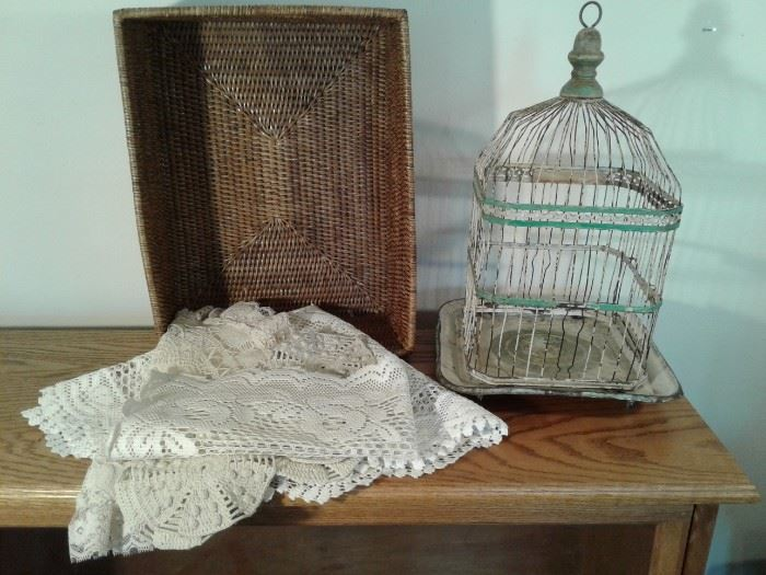 Vintage Birdcage Basket Placemats