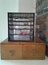Vintage File Cabinet and Organizer