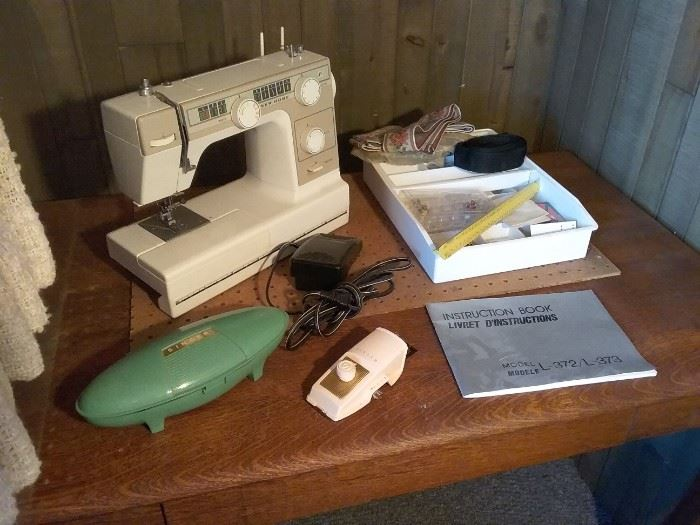 Vintage Sewing Machine and Accessories