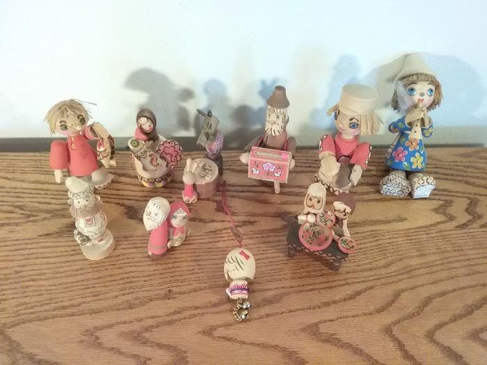 Wooden Russian Figurines