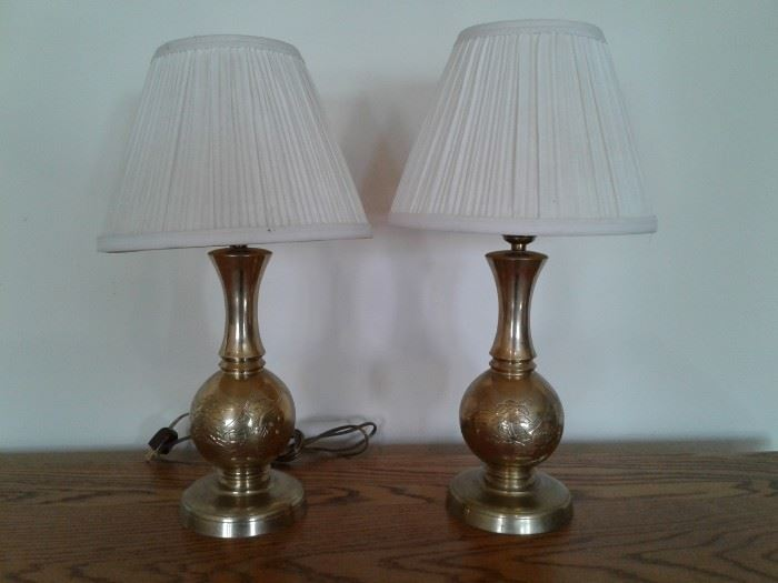 x2 Etched Brass Lamps