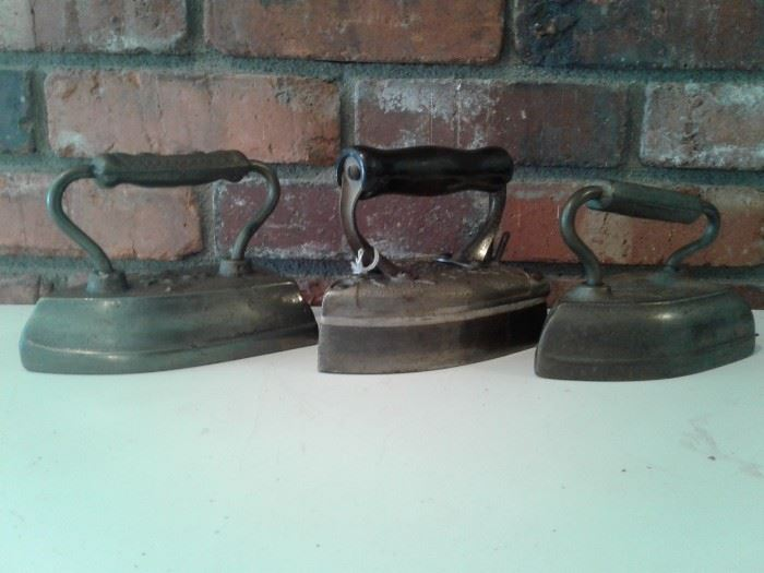 x3 Antique Irons
