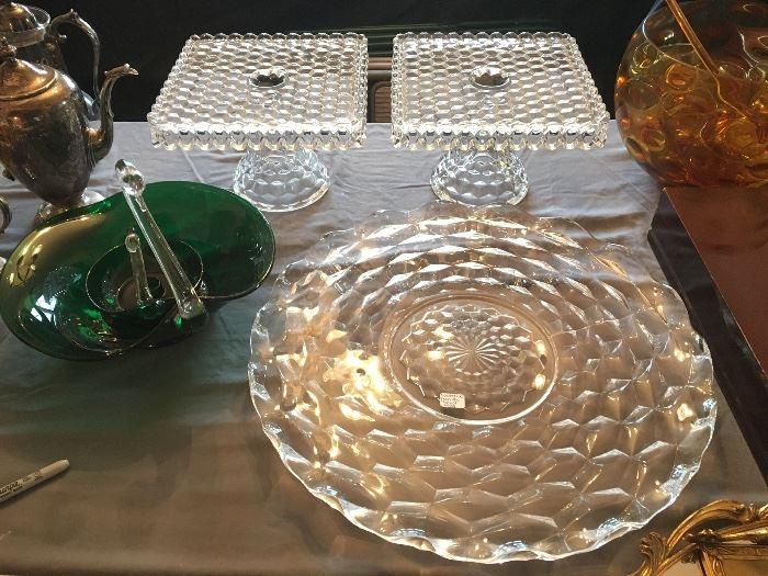 Fostoria cake plates