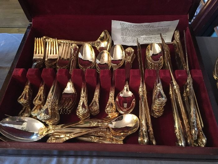 Godinger gold flatware