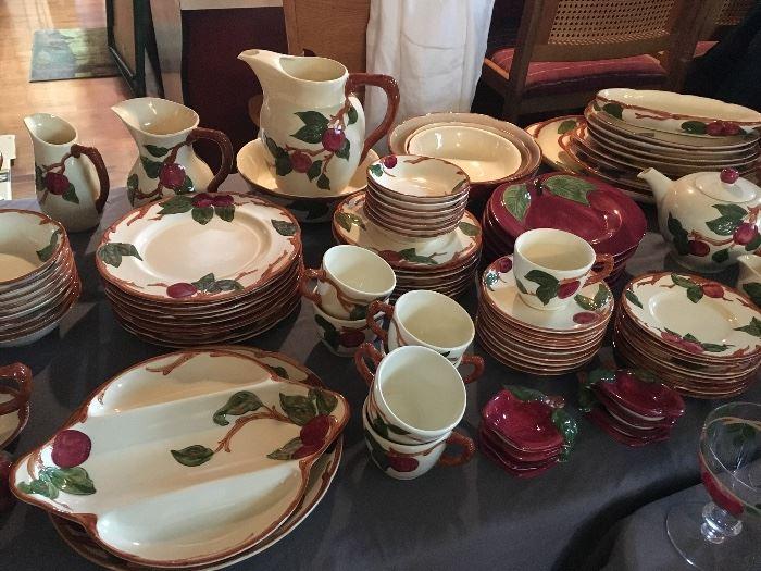 LARGE set of Franciscan apple ware dinnerware
