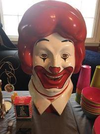 1977 Ronald McDonald helium balloon tank cover