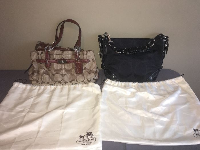 Coach purses with dust cover bags