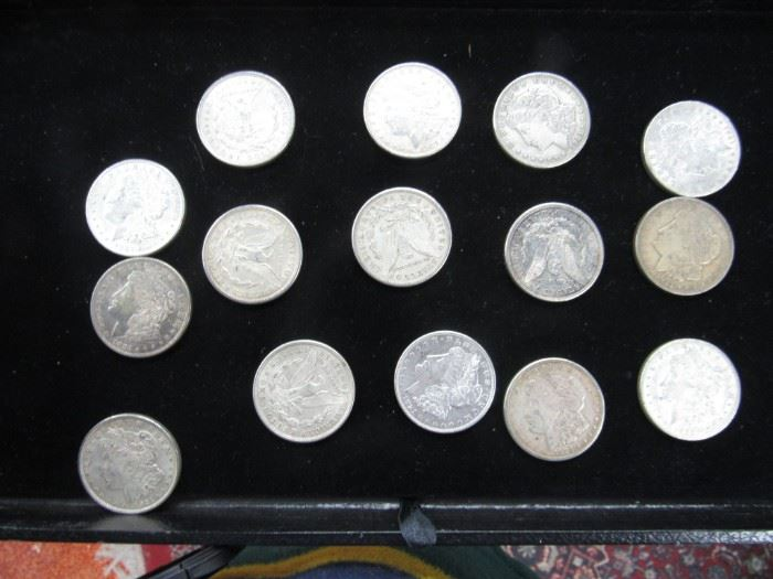 Lot if 15 U.S Morgan Silver Dollars