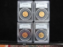 U.S $5.00  graded Gold Coins