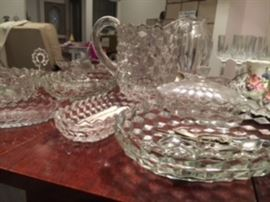 Some of the Fostoria glassware