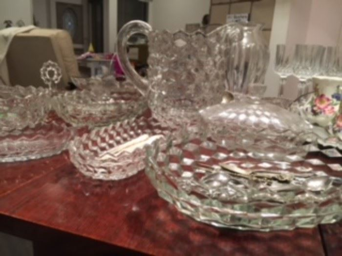 Some of the Fostoria glassware