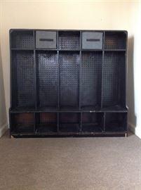 5 column storage cubby cabinet.