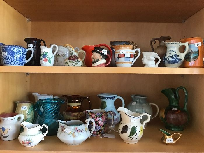 Creamer collection antique and vintage.