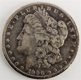 Lot 16a - Coin 1900 O/CC Morgan Silver Dollar Very Good