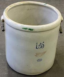 Lot 158 - Vintage Red Wing 15 Gallon Salt Glazed Pot