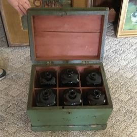 Early box with 6 gin bottles