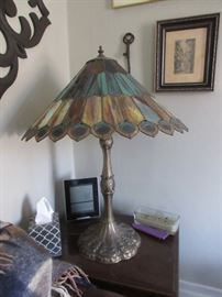 One of many art glass lamps