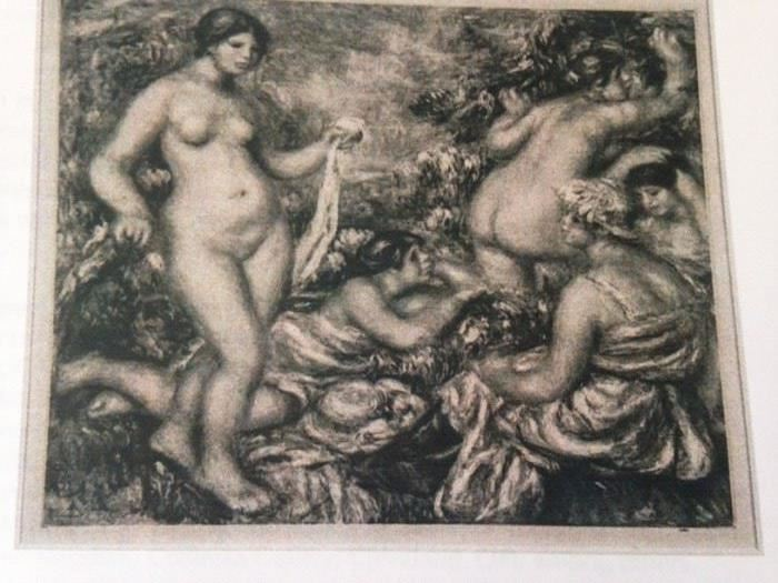 "after Renoir  ""five bathers""  heliogravure on paper"