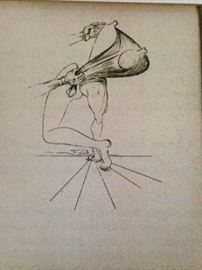 Salvadore Dali 1974  etching on white wove paper