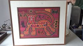 One of several Panamanian molas of various sizes.