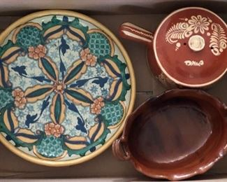 Talavera and vintage terra cotta Mexican pottery