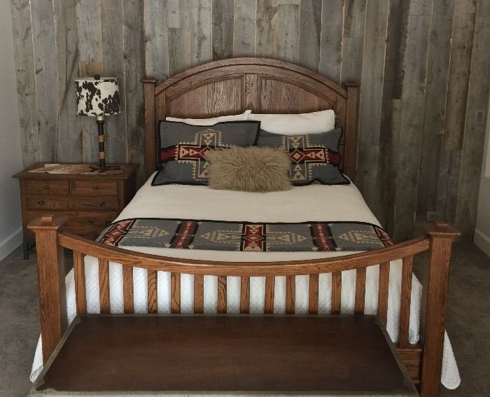 Lexington oak bed frame - queen