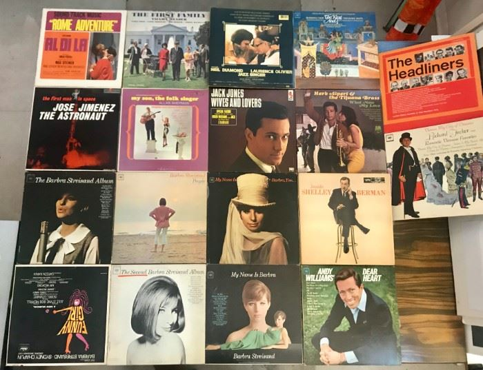 Vinyl, Lps mostly 1960s  Barbra Streisand