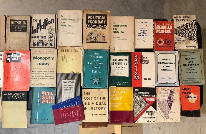 Red books, historical memorabilia, politics, and presidential books, John F Kennedy artwork