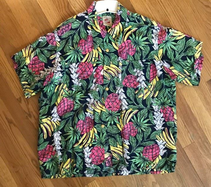 1950s Hawaiian shirts, bowling shirts and ties.