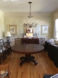 Dining room Pedestal Table with up to 20 chair available